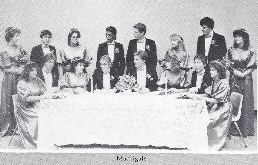 Photo of choir, Madrigals 1985-1986
