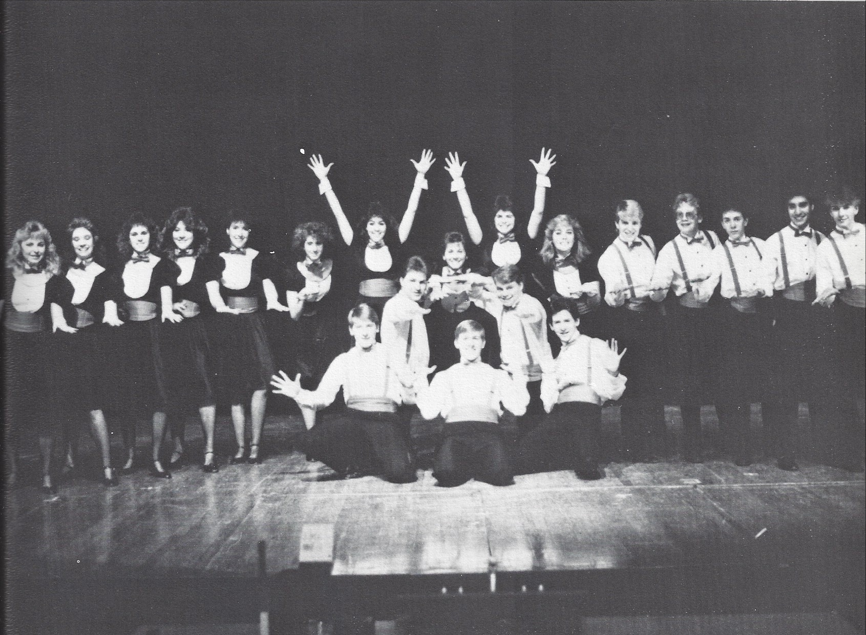 Photo of choir, Montage 1986-1987